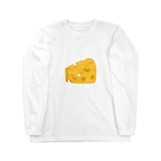 チーズ Long sleeve T-shirts