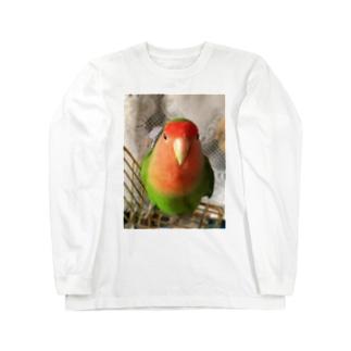 JADEのインコ界の用心棒、ジェイド之介 Long sleeve T-shirts