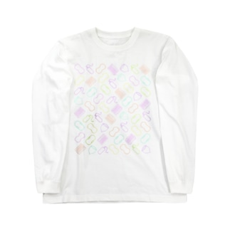 Periods are colorful./生理はカラフル。 背中プリントあり Long sleeve T-shirts