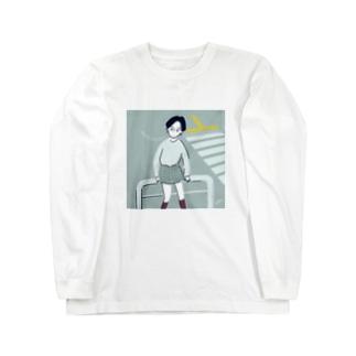 横断歩道でまちあわせちゃん Long sleeve T-shirts