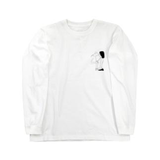 冬はあったかい方がうれしい Long sleeve T-shirts