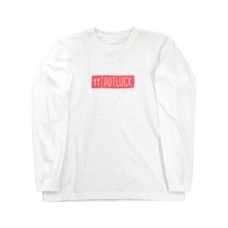 POTLUCK公式ロゴグッズ Long sleeve T-shirts