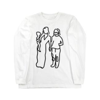 ぐにゃっとした夫婦 Long sleeve T-shirts