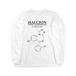 ハルシオン(トリアゾラムを使用した睡眠導入剤[睡眠薬]):化学:化学構造・分子式 Long sleeve T-shirts