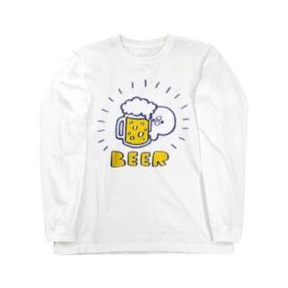 ビール好きのぴよたそ Long sleeve T-shirts