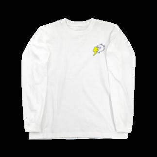 ぴよたそ商店のくまたそサンダー(熊色なしver) Long sleeve T-shirts