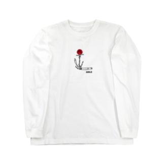 スモークフラワー  Long sleeve T-shirts