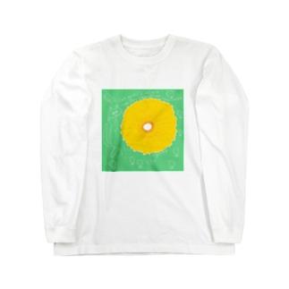 Cat & Flower Long sleeve T-shirts
