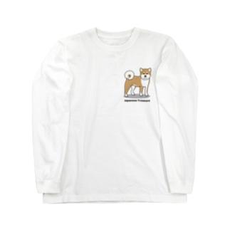 shiba1&2(両面2) Long sleeve T-shirts