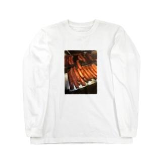 THE デブのデブT(ソーセージ) Long sleeve T-shirts