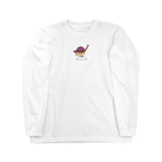 キャップな女の子 Long sleeve T-shirts