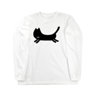 黒ねこ2  Long sleeve T-shirts