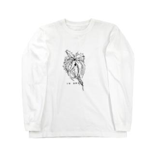 Goehringii(ゴエリンギー) ボタニカルアート Long sleeve T-shirts