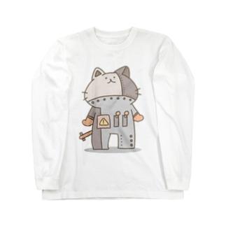 茶ロボにゃん Long sleeve T-shirts