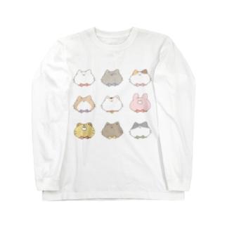 にゃんこたち Long sleeve T-shirts