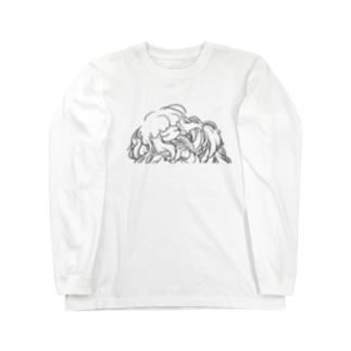 ふわふわ Long sleeve T-shirts