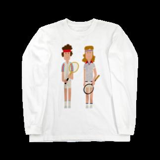 大森巳加のMcEnroe & Borg Long sleeve T-shirts