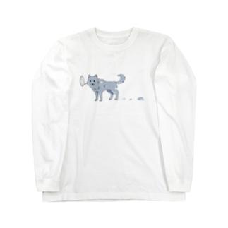 換毛期の犬 Long sleeve T-shirts