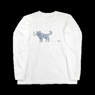 骨犬工房の換毛期の犬 Long sleeve T-shirts