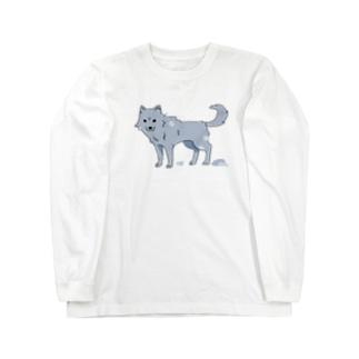 換毛期の犬ver2 Long sleeve T-shirts