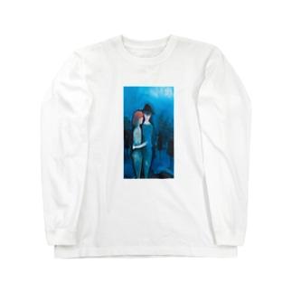 じーじの絵#1[青の抱擁] Long sleeve T-shirts