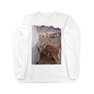 ゲルとネコ Long sleeve T-shirts