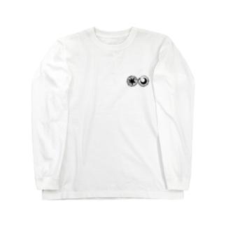 太陽と月 Long sleeve T-shirts