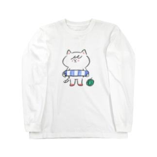 ポシェットにゃんこ協会 Long sleeve T-shirts