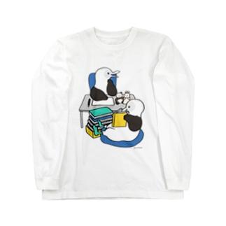 アオアシカツオドリのイラストレーター Long sleeve T-shirts