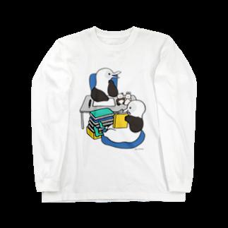 くさだ さやかのアオアシカツオドリのイラストレーター Long sleeve T-shirts