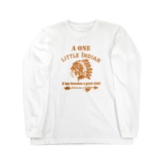 ワンリトルインディアン(イエロー) Long sleeve T-shirts