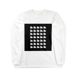 いっぱい犬 Long sleeve T-shirts