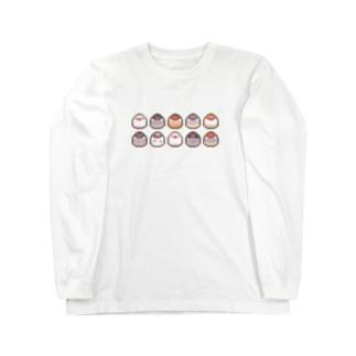 ドット絵もち文鳥 Long sleeve T-shirts
