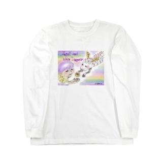 Ang24 エンジェルと白龍 Long sleeve T-shirts