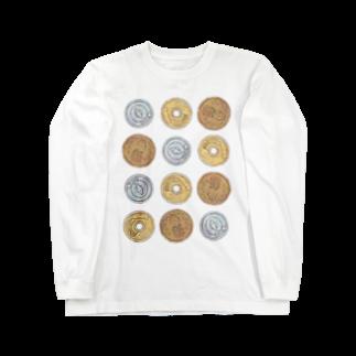 柾の猫硬貨 六拾四 Long sleeve T-shirts