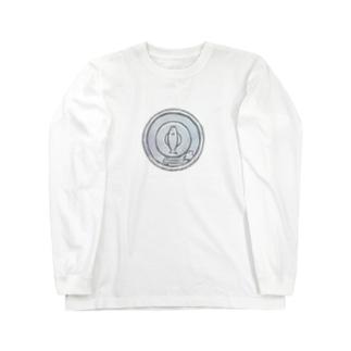 猫硬貨 壱 Long sleeve T-shirts