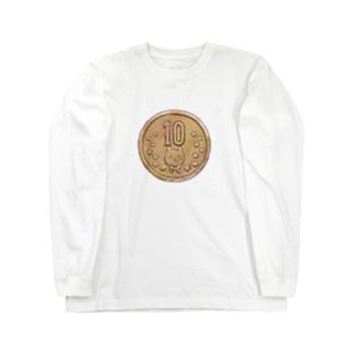 猫硬貨 拾 Long sleeve T-shirts