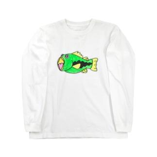 落書きバスくん Long sleeve T-shirts