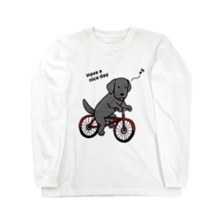 bicycleラブ 黒(両面) Long sleeve T-shirts