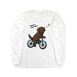 bicycleラブ チョコ(両面) Long sleeve T-shirts