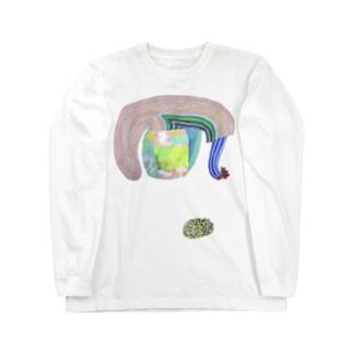 ぐんぐんどーう と 原っぱおはぎ Long sleeve T-shirts