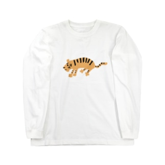 切なげなトラ Long sleeve T-shirts