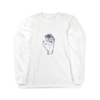チラ見え Long sleeve T-shirts