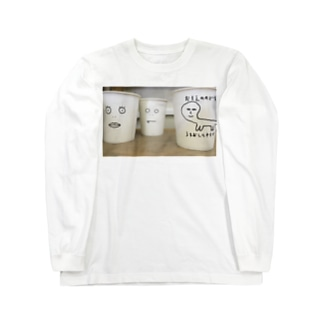 紙コップたち Long sleeve T-shirts