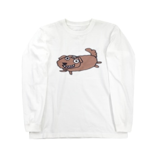 なにか期待しているワンコ Long sleeve T-shirts