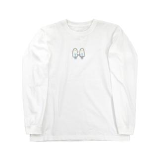おばけちゃんシスターズ(黒フチ) Long sleeve T-shirts