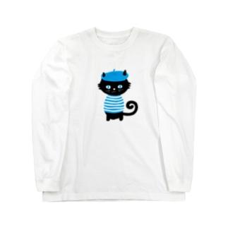 バタにゃん Long sleeve T-shirts