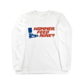 おこたしゃべりハンマーフィードナインロングスリーブTシャツ Long sleeve T-shirts