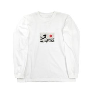 Japanese Sun×Hokusai Long sleeve T-shirts