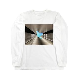 ブルー鳥 Long sleeve T-shirts